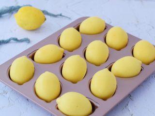 柠檬玛德琳蛋糕,成品图