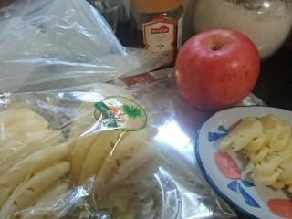 苹果凤梨酥,准备好所需要的食材