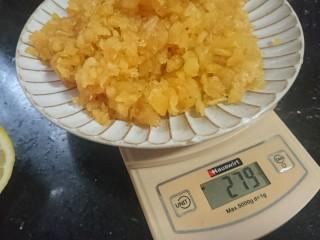 苹果凤梨酥,炒好的果肉放凉备用