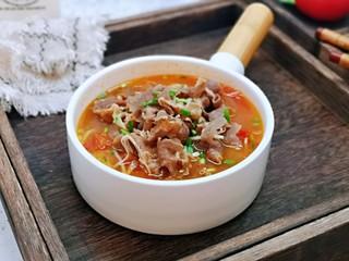 味道鲜美的茄汁肥牛卷,味道鲜美至极,酸爽开胃。