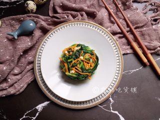 凉拌虫草花菠菜
