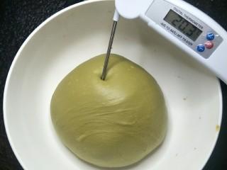 爆浆抹茶冰心面包,面团温度不要超过30°不然面包烤出来会变酸。