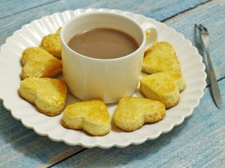 司康饼,快手方便的下午茶点心,配一杯咖啡或红茶,完美^_^
