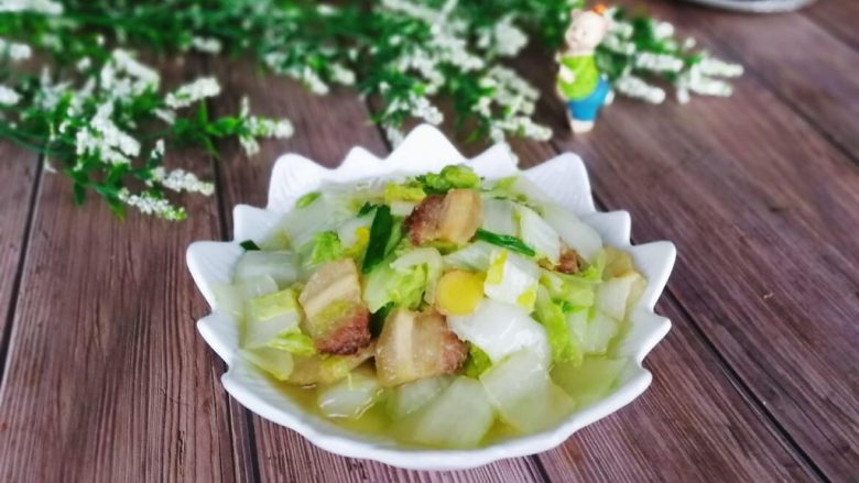 五花肉炒天津白