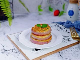 洋葱圈鸡蛋肉糜饼,营养均衡的早餐出炉,简单易做,好吃又好看。