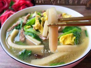 汤黄粿,美味的汤黄粿做好了,软糯Q弹,好吃的很哦。