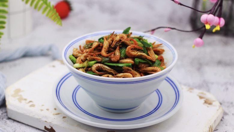 桃花虾爆韭菜