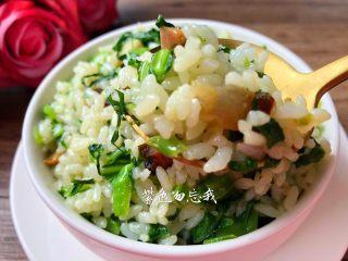芥菜饭,美味的芥菜饭做好了,香喷喷,太好吃了,一下子能吃两碗。