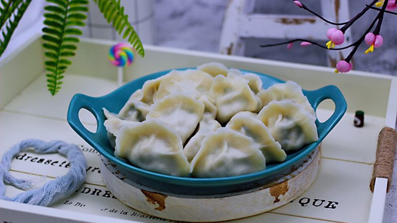 蘑菇韭菜饺子