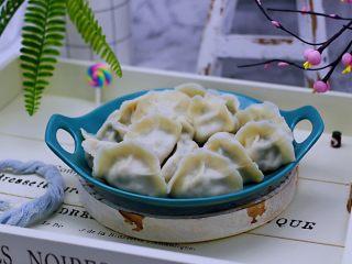 蘑菇韭菜饺子,成品一