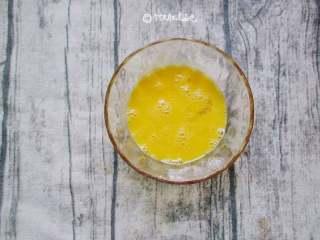 多福豆腐,鸡蛋打散备用