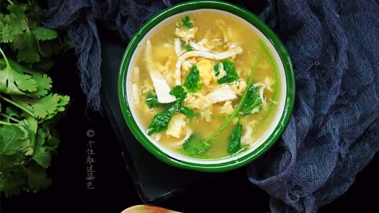 豆腐丝鸡蛋汤