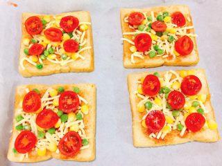 快手吐司披萨,小西红柿