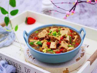 肉末青蒜烩豆腐,成品一