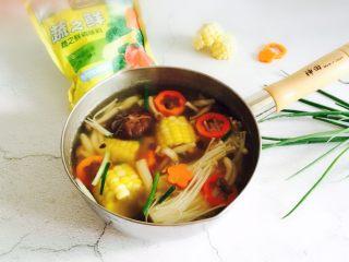 低脂菌菇汤,一份低脂菌菇汤大功告成