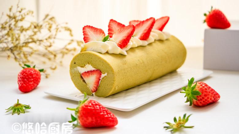 抹茶草莓蛋糕卷