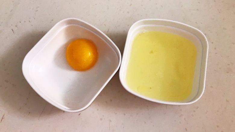 改良版 西湖牛肉羹,把鸡蛋蛋清蛋黄分开,这道菜只用蛋清
