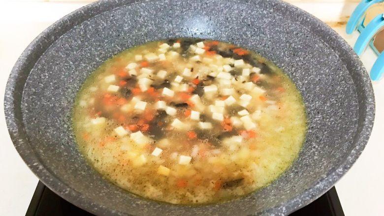 改良版 西湖牛肉羹,开锅后烧2分钟