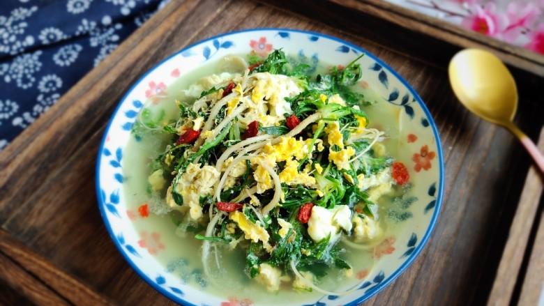 荠菜鸡蛋汤,敏茹意作品~野菜鸡蛋汤