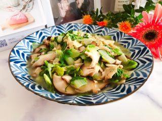 香菇腐皮黄白菜,清爽好吃