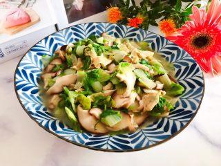 香菇腐皮黄白菜