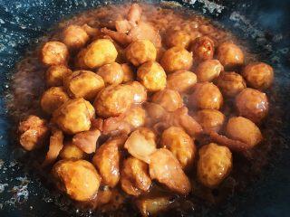家烧虎皮鹌鹑蛋,大火收汁即可出锅
