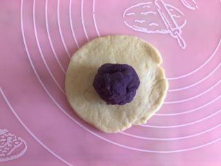 紫薯花样馒头,包上紫薯馅儿