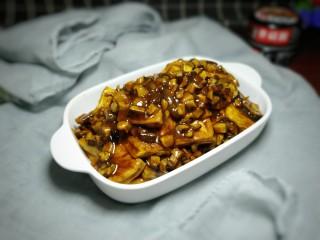 香菇焖豆腐,成品图