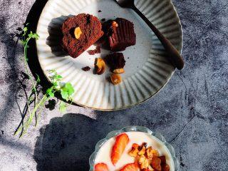 巧克力果仁小蛋糕,开启美美的点心时间✌️