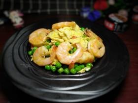 鲜虾滑蛋炒碗豆