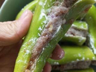 虎皮尖椒酿肉,爬上淀粉