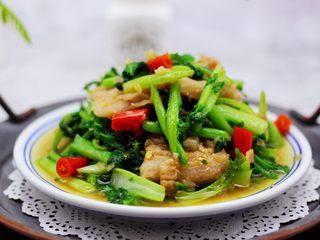 蒜香花肉小苔菜,绝对是米饭的杀手。