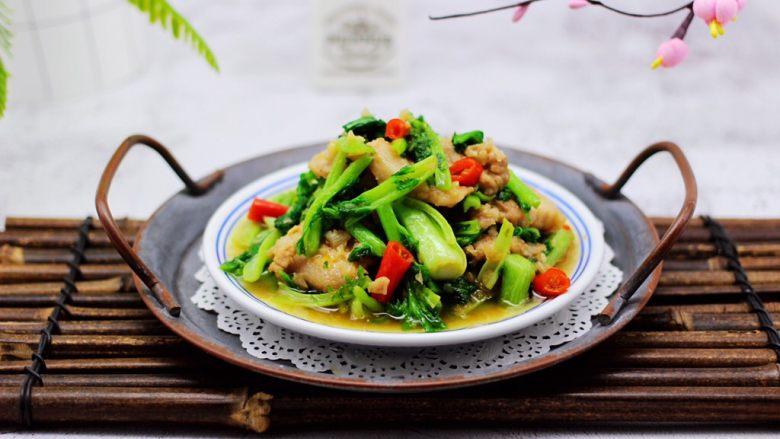 蒜香花肉小苔菜