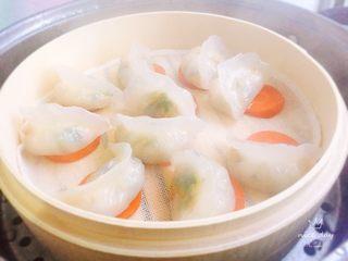 翡翠水晶饺,蒸15分钟左右