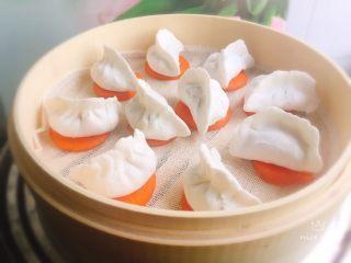 翡翠水晶饺,冷水上锅蒸