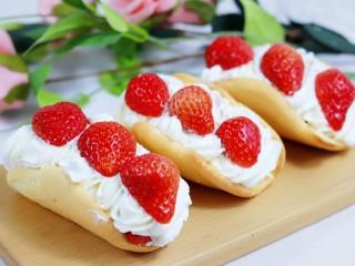 火爆Ins的StrawberryOmelet草莓抱抱卷,成品4