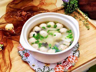 点翠清汤白玉丸➕木耳冬瓜丸子汤,成品