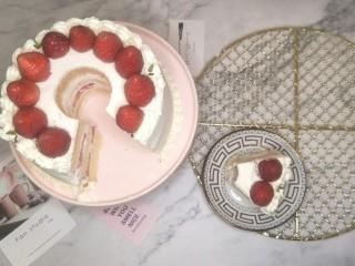 奶油草莓海绵蛋糕,完成get✔