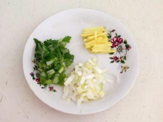 最正宗的麻婆豆腐,鲜姜切成丝,大葱切成葱花