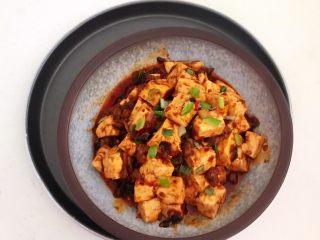 最正宗的麻婆豆腐,撒上葱花即可