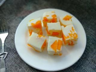 芒果牛奶冻,可以吃了
