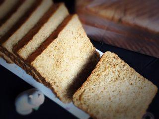 红糖双吐司-小麦预拌粉,漂亮的吐司面包就完成了。