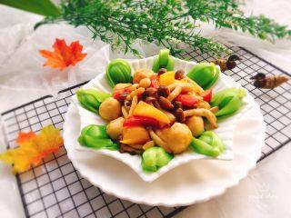 蔬烩虾丸,成品图