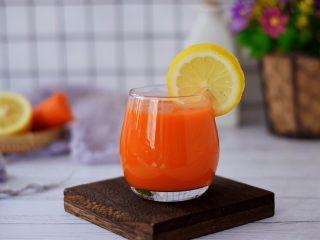 苹果胡萝卜汁,成品图