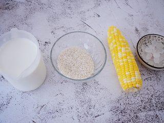 香浓奶香玉米汁,准备好材料