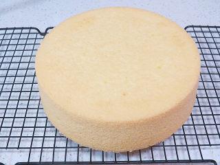 【小猪佩奇主题生日蛋糕】,同样材料再烤出一个,因为小朋友不喜欢吃有夹馅的,所以一个蛋糕高度不够,多加了一片。做水果夹馅的亲们就不需要了,一个就够了