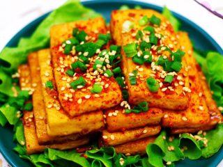 香辣煎豆腐,简单又美味。