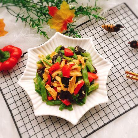 四季豆烧腐竹+春天的味道