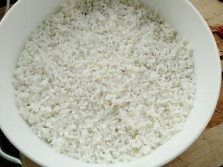 甑糕,鋪上一層糯米