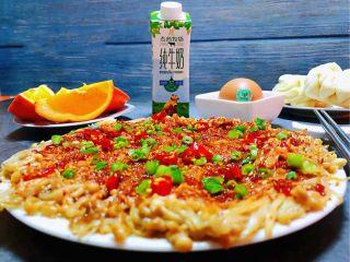 香煎金针菇,金针菇在家里也可以做出烧烤店的味道